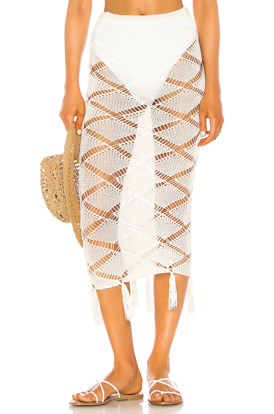 Shaycation x REVOLVE Bell Skirt in White