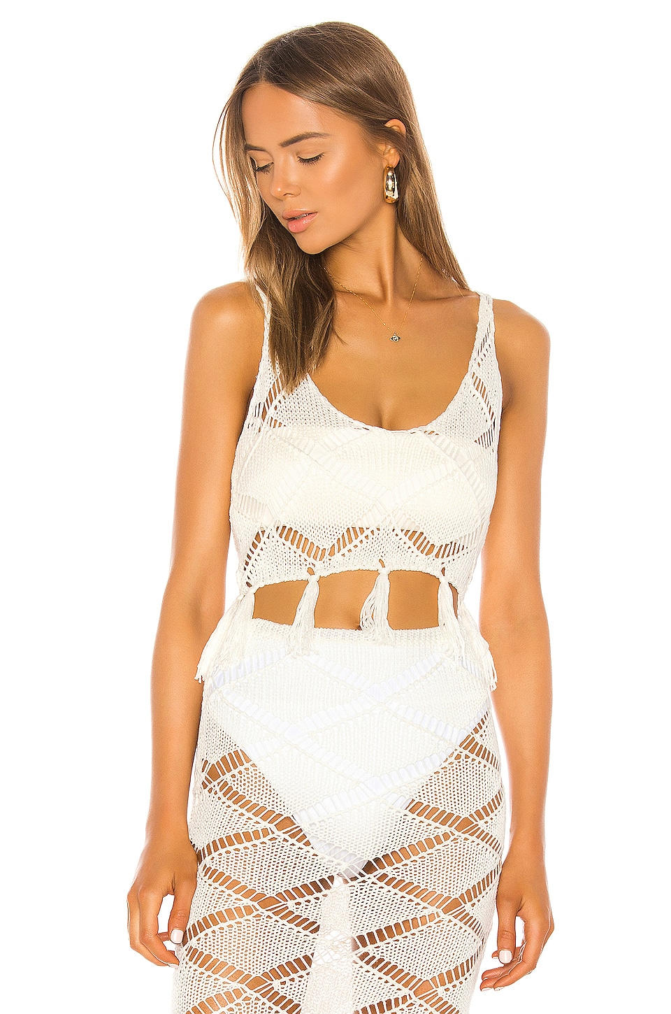 Shaycation x REVOLVE Bell Crop in White