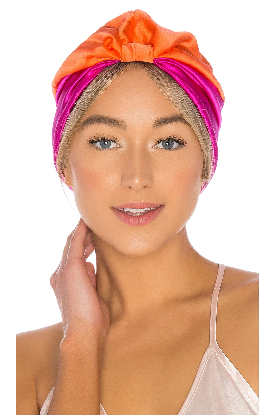 SILKE London Hair Wrap The Poppy in Cerise Pink & Orange