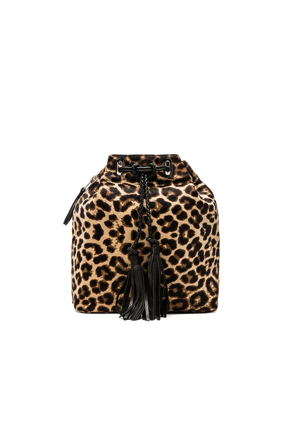Simone Camille The Midi Bucket Bag in Jaguar Print