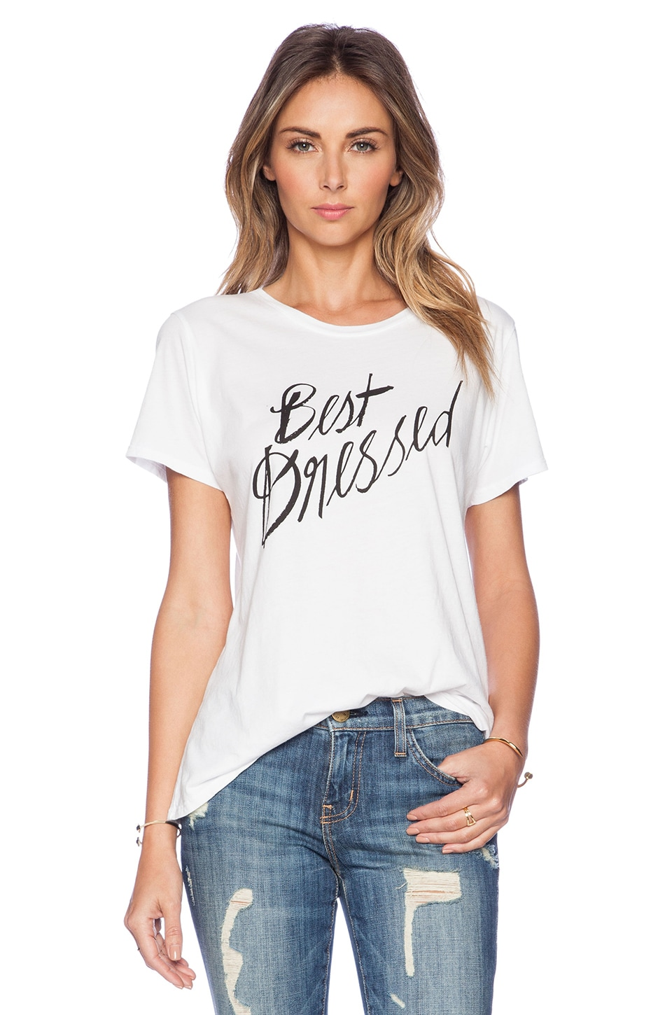 Sincerely Jules Best Dressed Tee in White