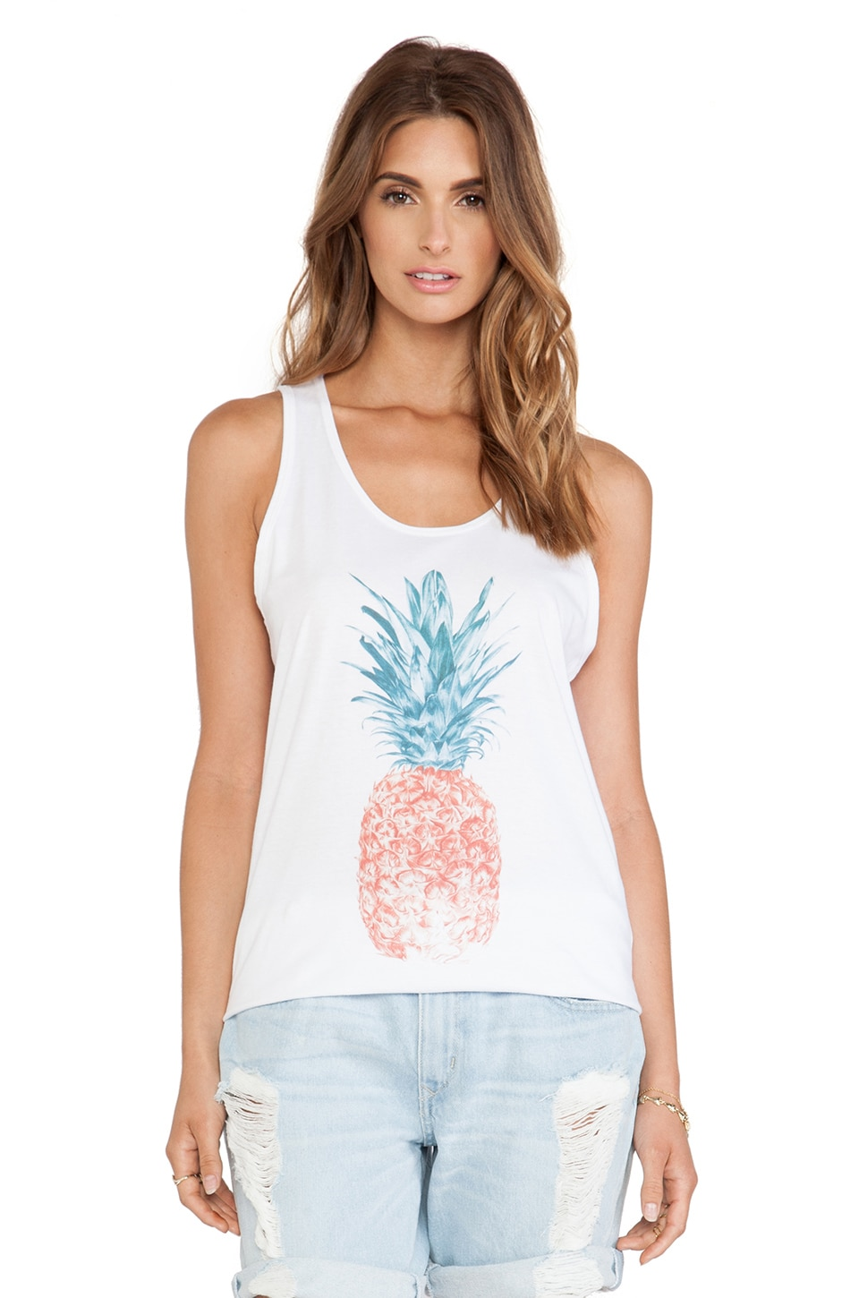 Sincerely Jules Pina Colada Tank in White