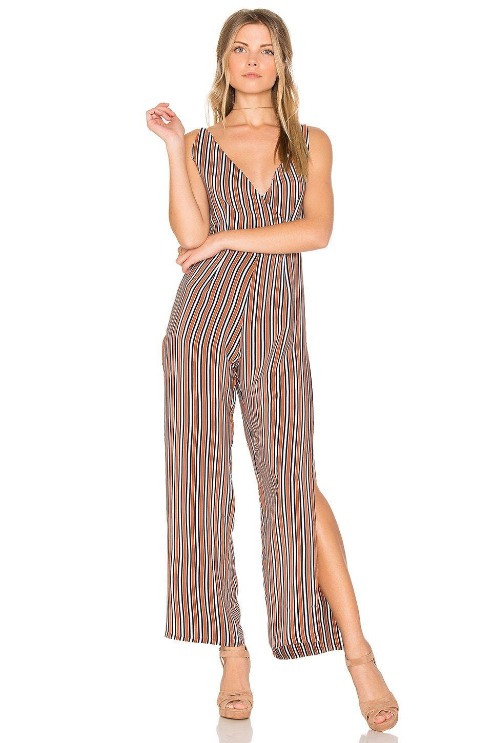 SIR the label Zoee Jumpsuit in Rust Stripe