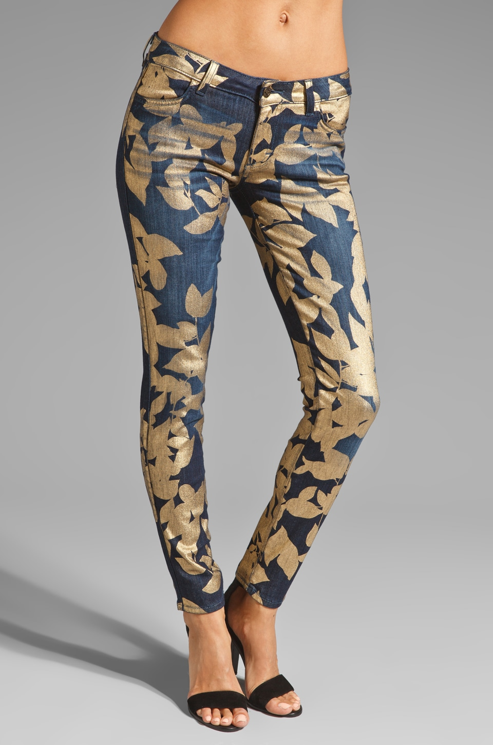 Siwy Hannah Skinny in Gold Leaves