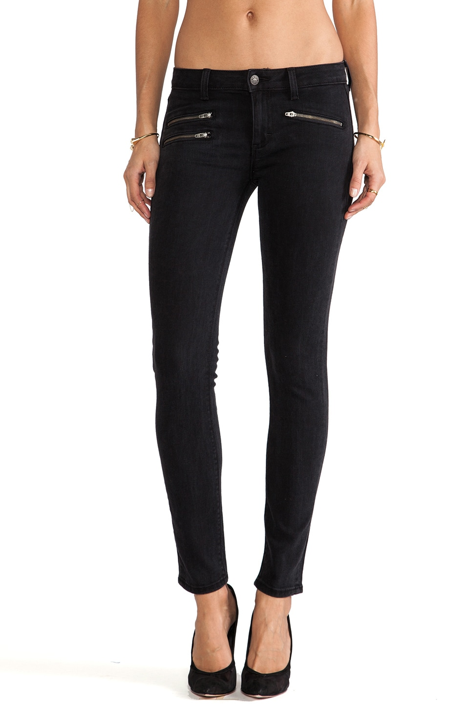 Siwy Mickie Skinny Crop with Zippers in Magic Man
