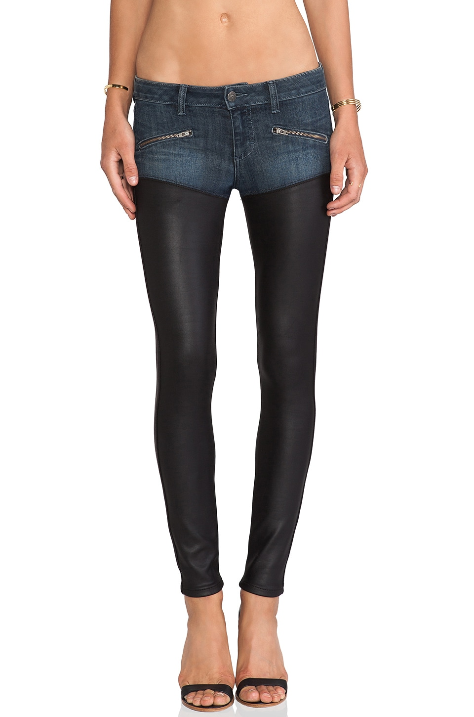 Siwy Colleen Skinny with Zips in Rique