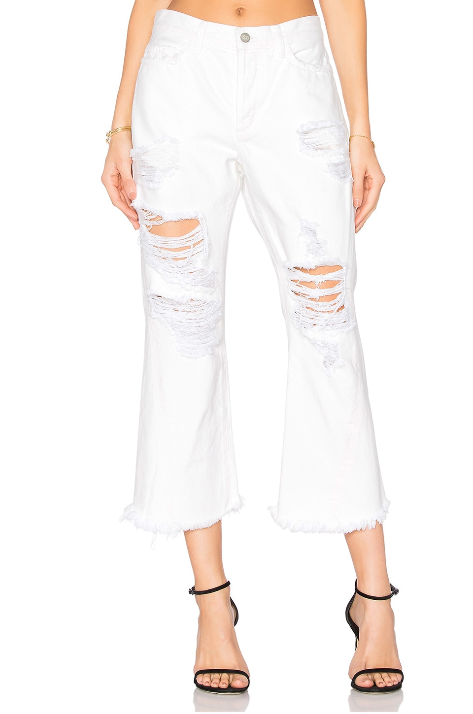 Siwy Jenna Louise Crop Flare in White Sky
