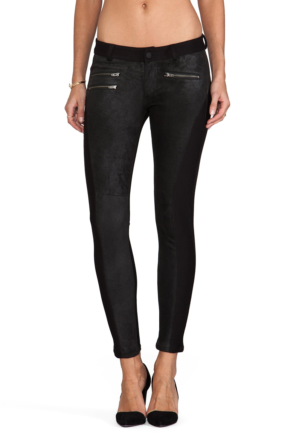 Siwy Mick Leather Panel Skinny in Crave