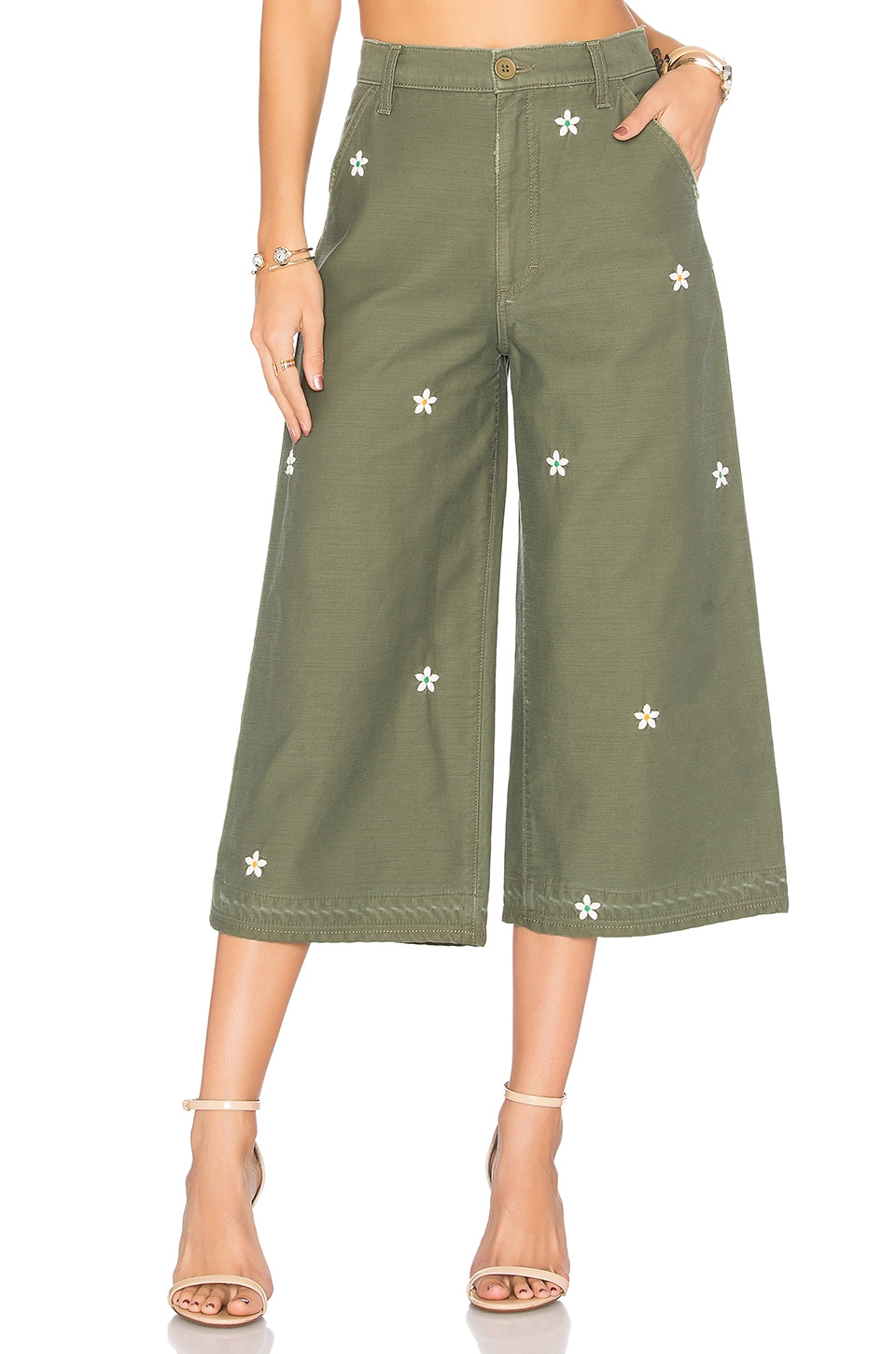 Siwy Loretta Military Wide Leg in Jungle Bud