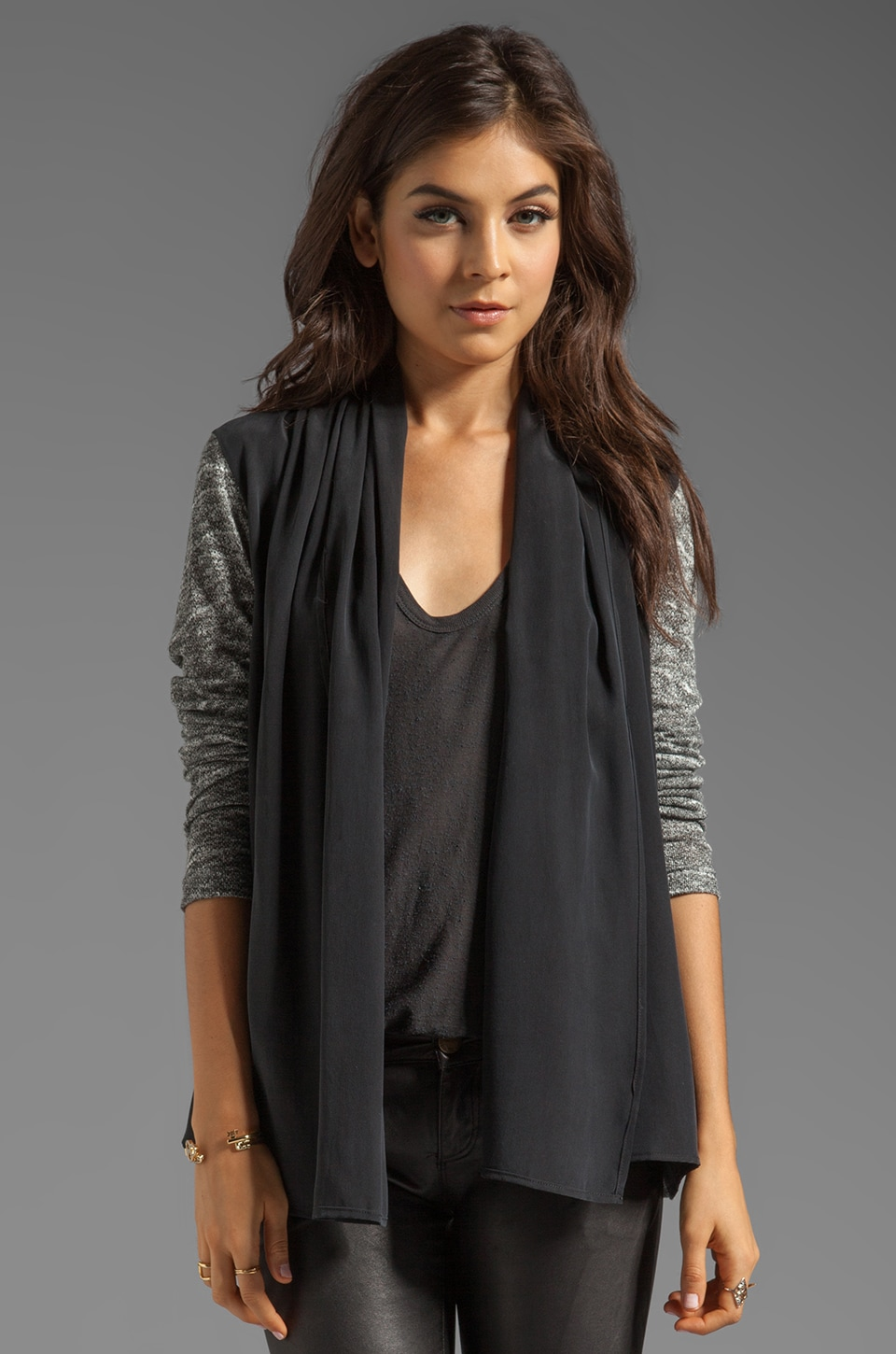 SJOBECK Rosenthal Cardi in Salt & Pepper