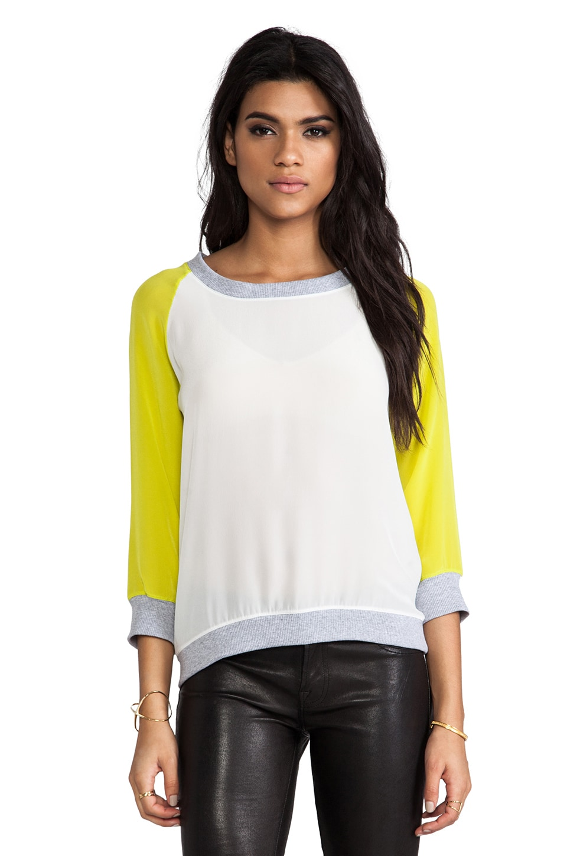 SJOBECK Silk Sweatshirt in Citron