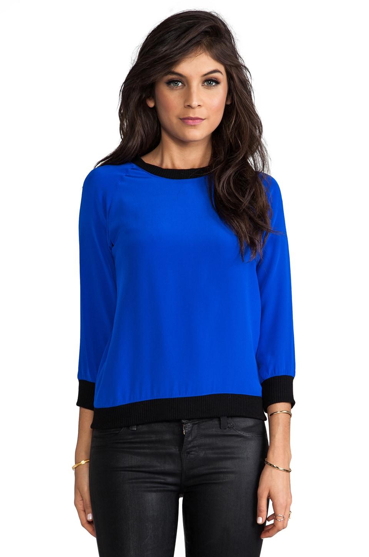SJOBECK Calamigos Silk Pullover in Cobalt