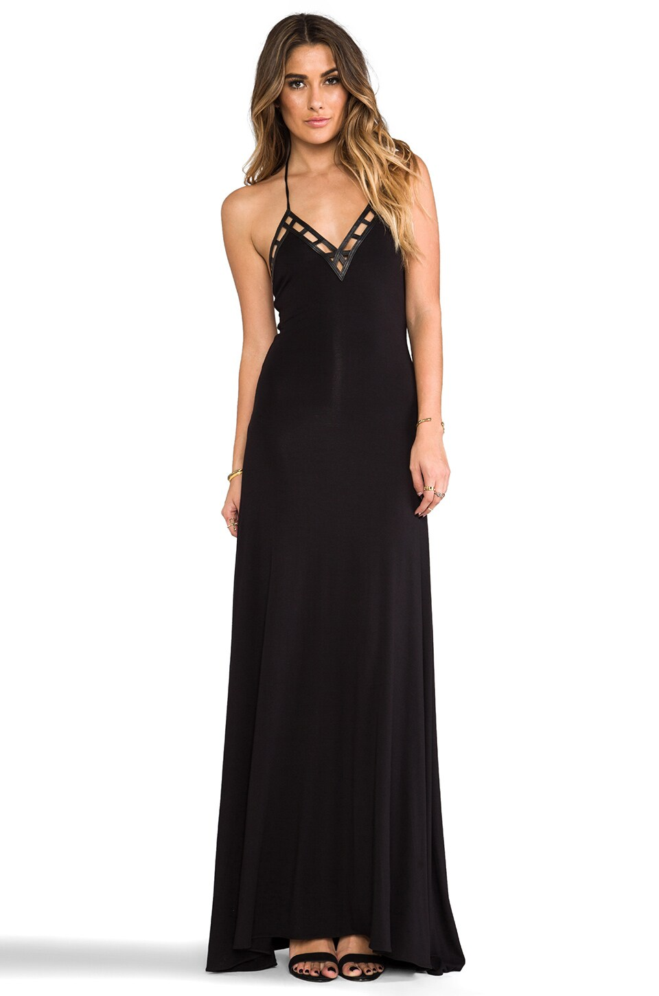 sky Kace Maxi Dress in Black