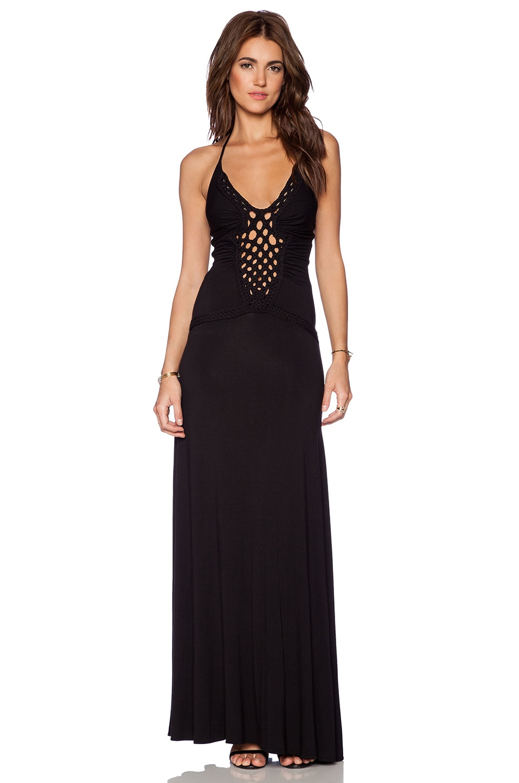 sky Lamya Maxi Dress in Black