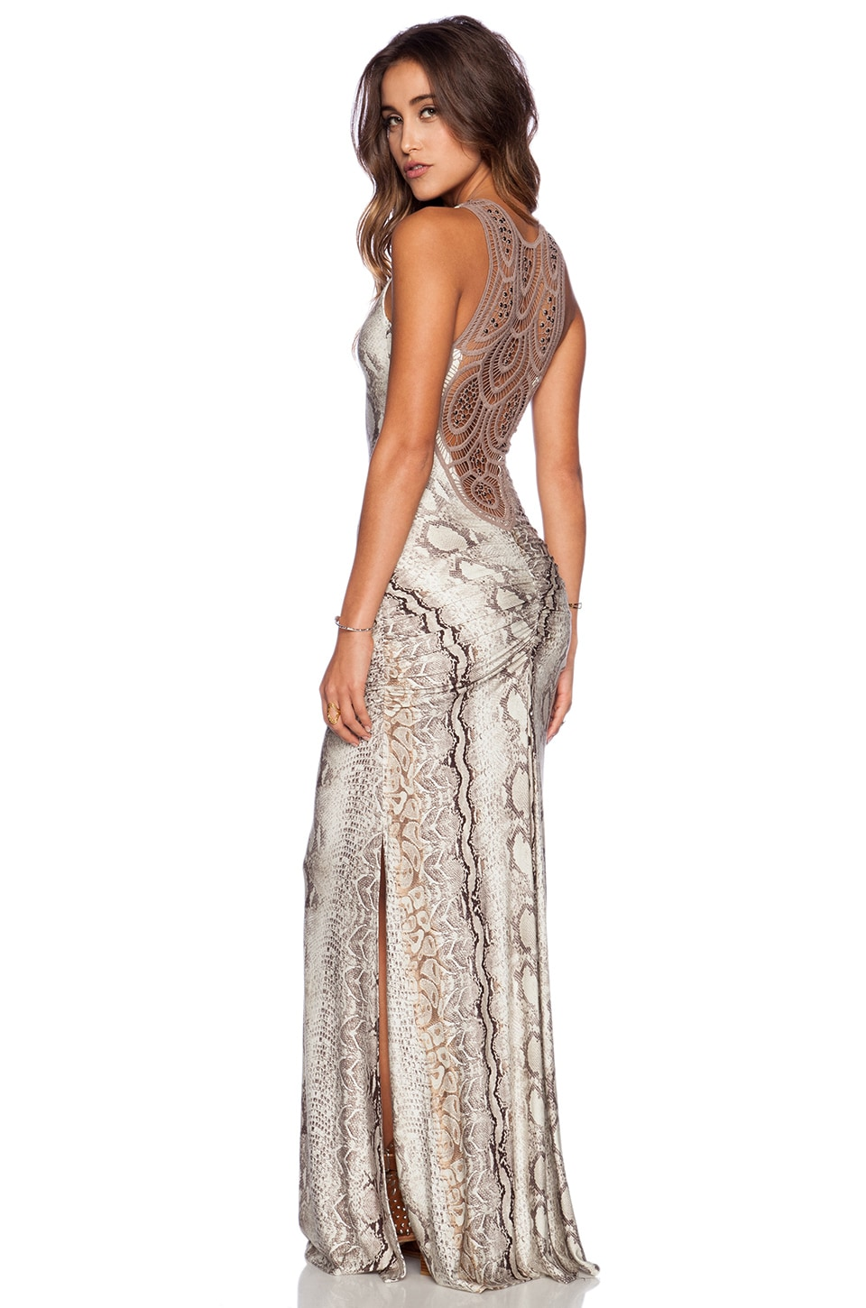 sky Patrina Maxi Dress in Taupe