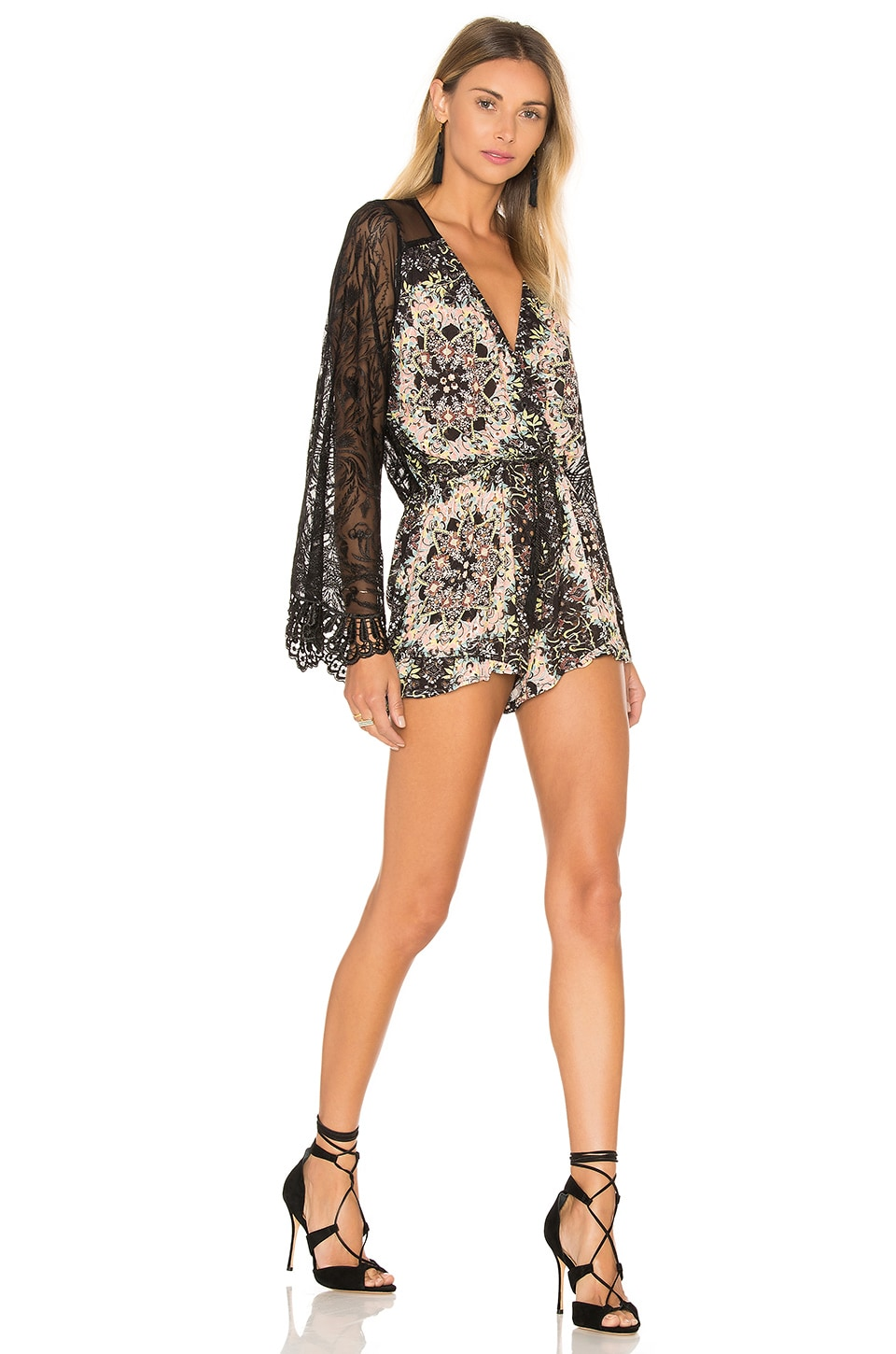 sky Yamir Romper in Black