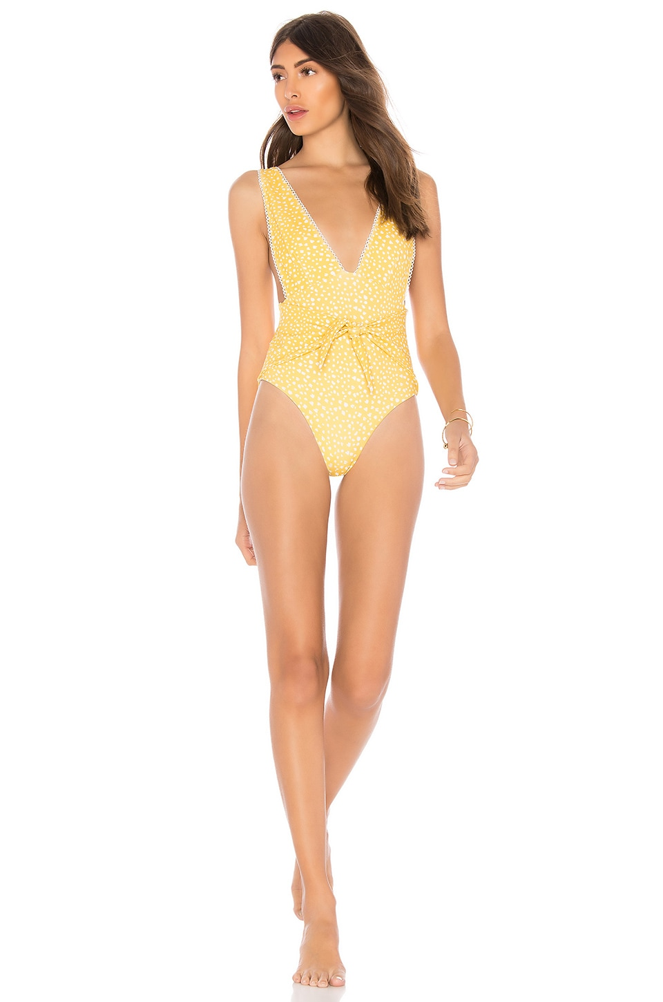 SKYE & STAGHORN TIE UP PLUNGE ONE PIECE