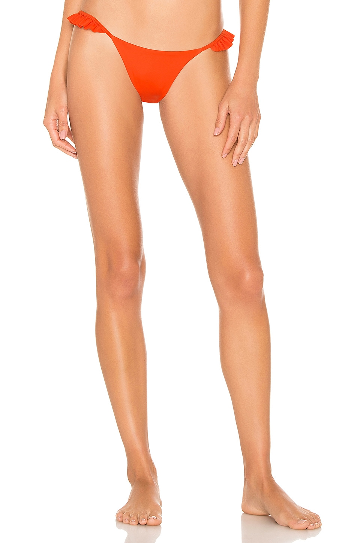 SKYE & staghorn Micha Bikini Bottom in Forbode in Papaya
