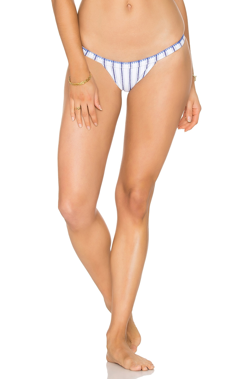 SKYE & staghorn Turkish Siren Bikini Bottom in Muted Blue
