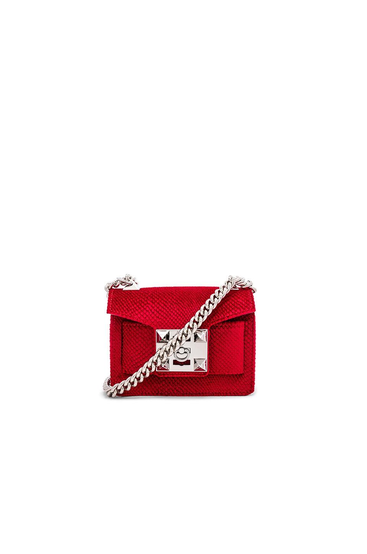 SALAR Gaia Velvet Bag in Poppy