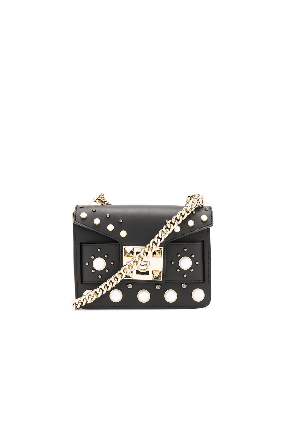 SALAR Mila Pearl Bag in Black