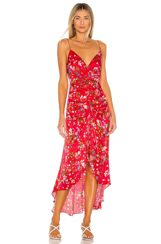 SAU LEE Sofia Dress in Red Floral