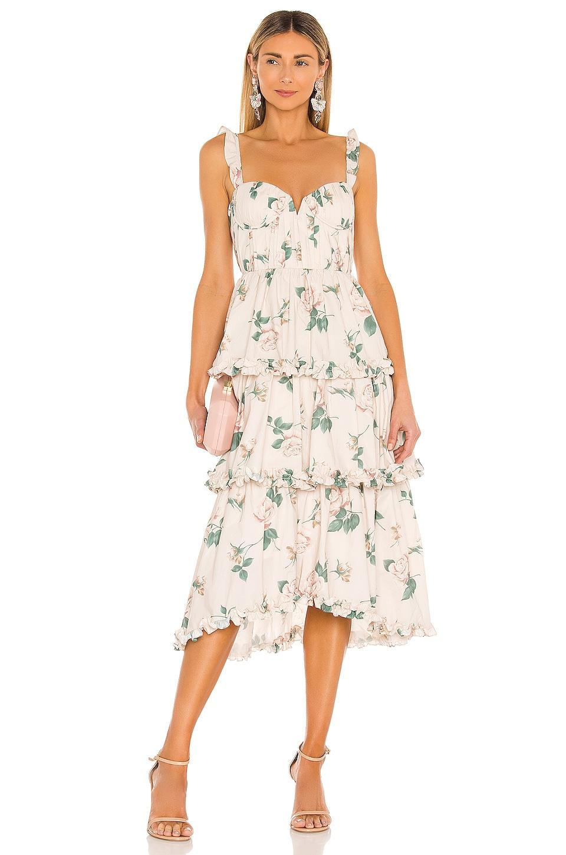 SAU LEE Peyton Dress in Powder Pink