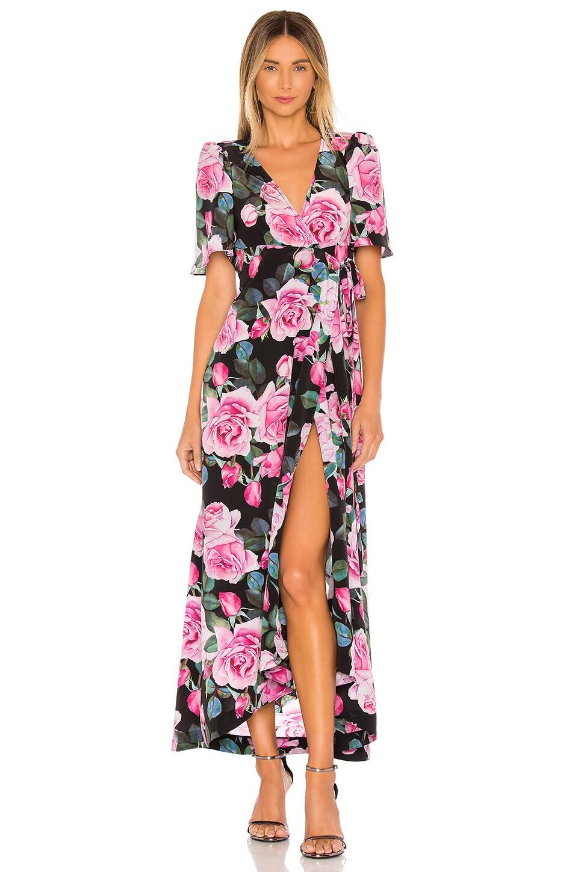 Selkie The Upper East Dress in Rose Print