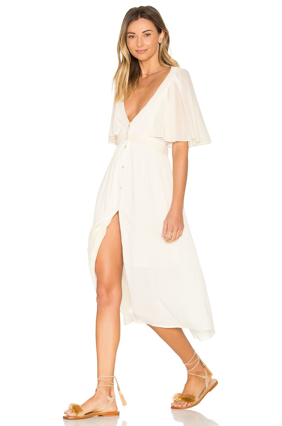 Somedays Lovin Eldora Midi Dress in Natural