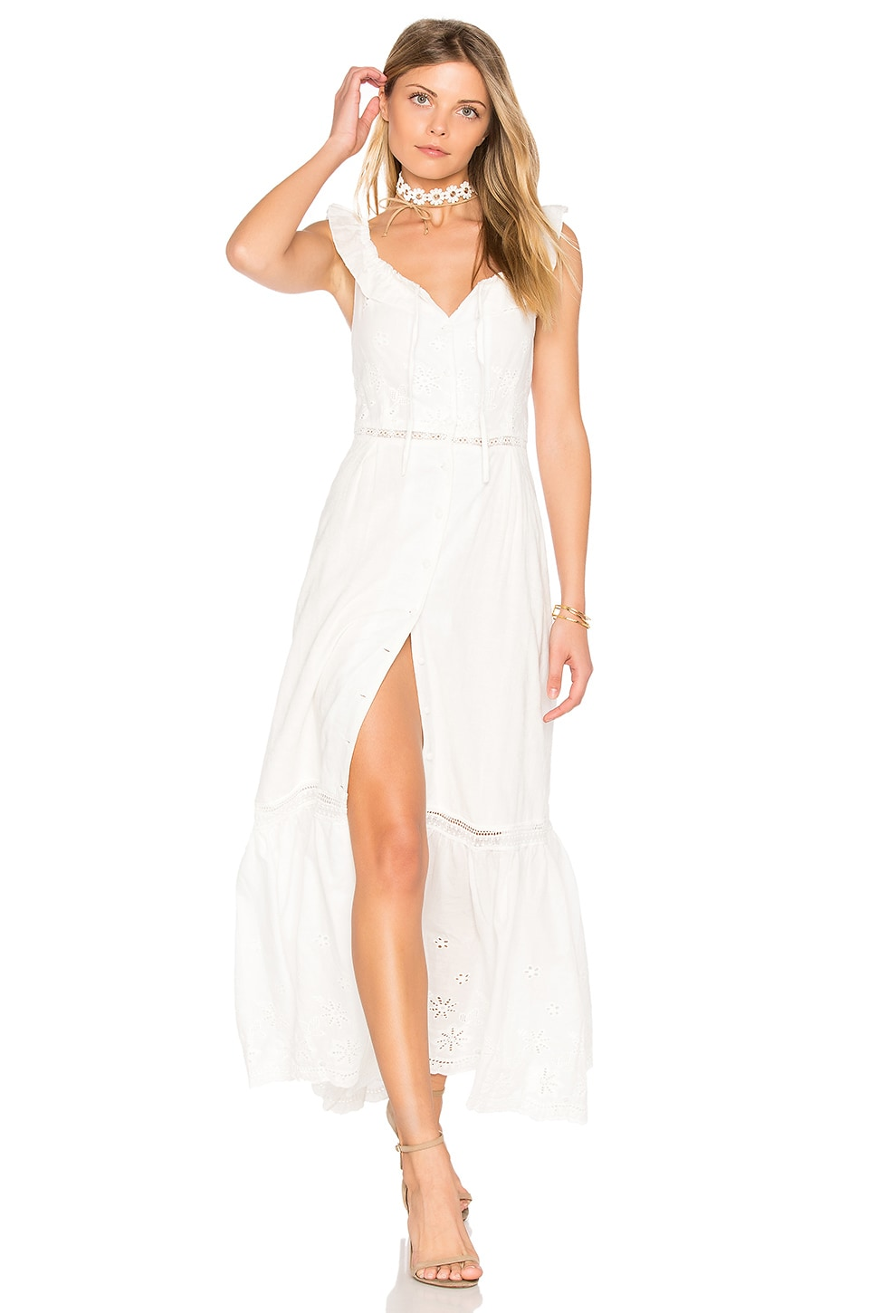 Somedays Lovin Sky Might Fall Midi Dress in Off White