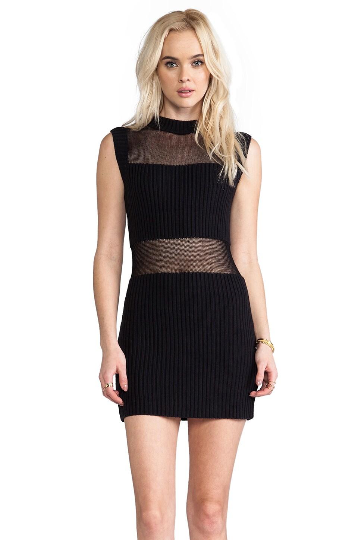 Somedays Lovin Parallels Block Knit Dress in Black
