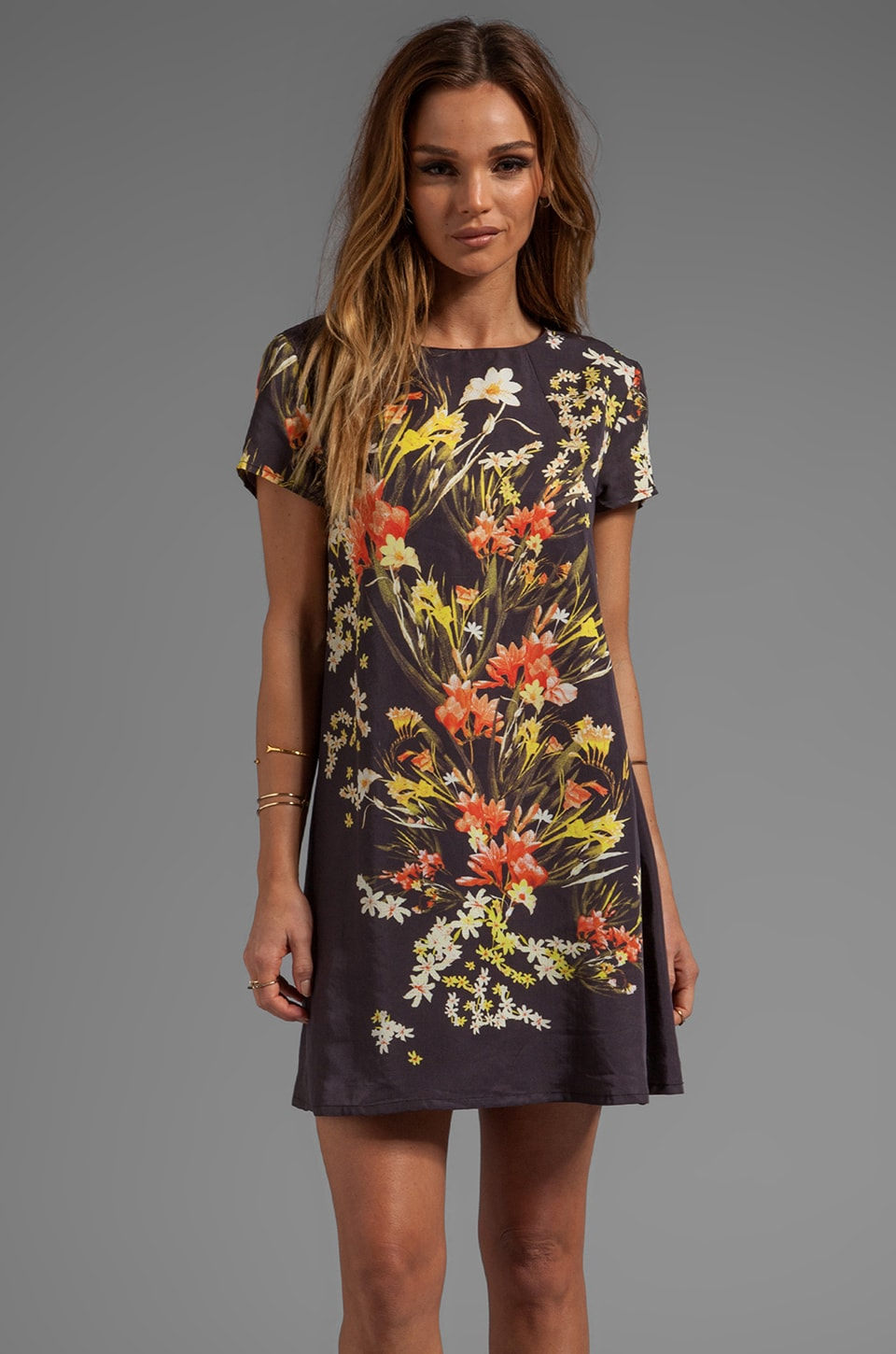 Somedays Lovin Botanic Print Tee Dress in Multi