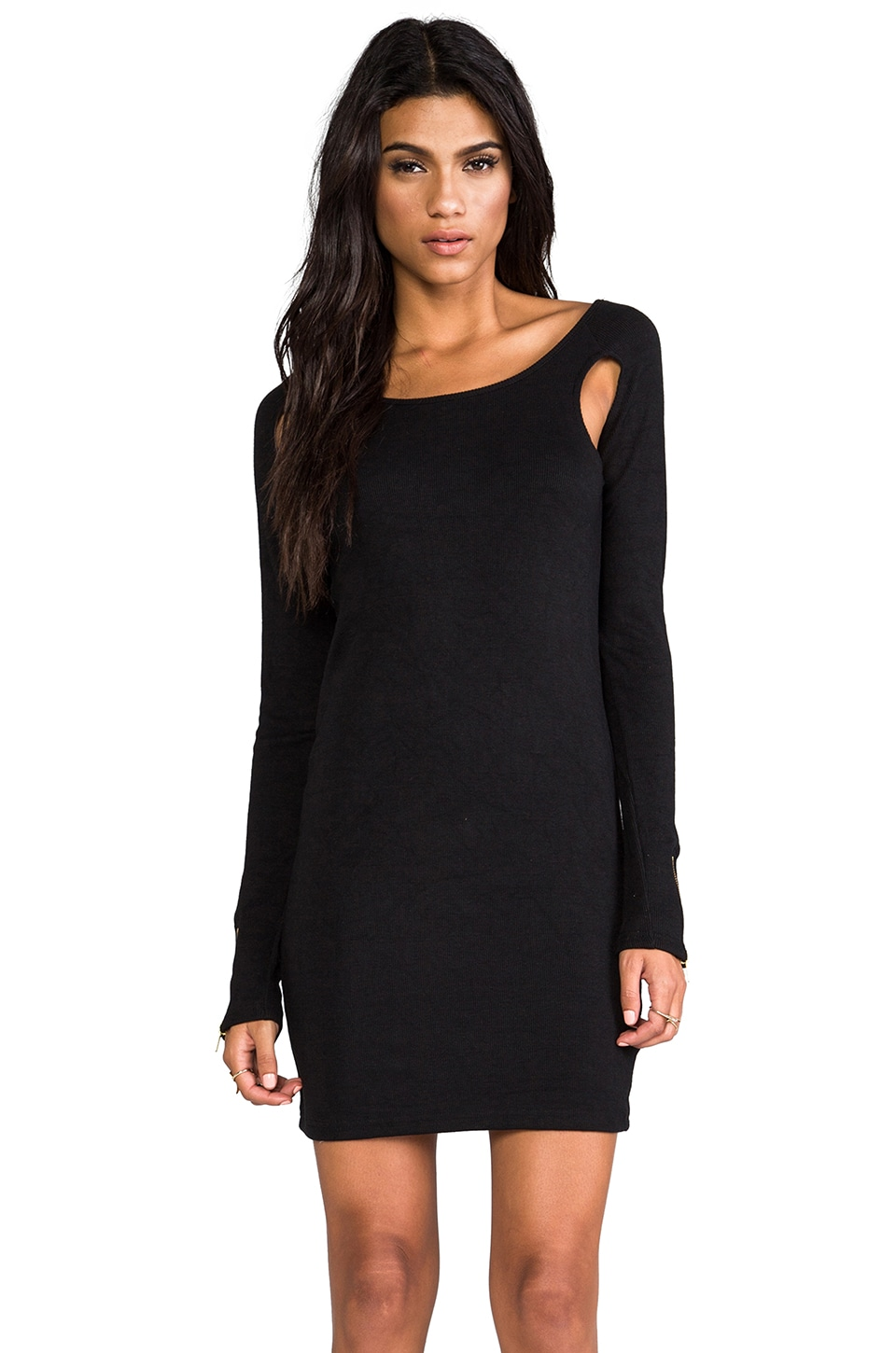 Somedays Lovin Lonesome Long Sleeve Dress in Black