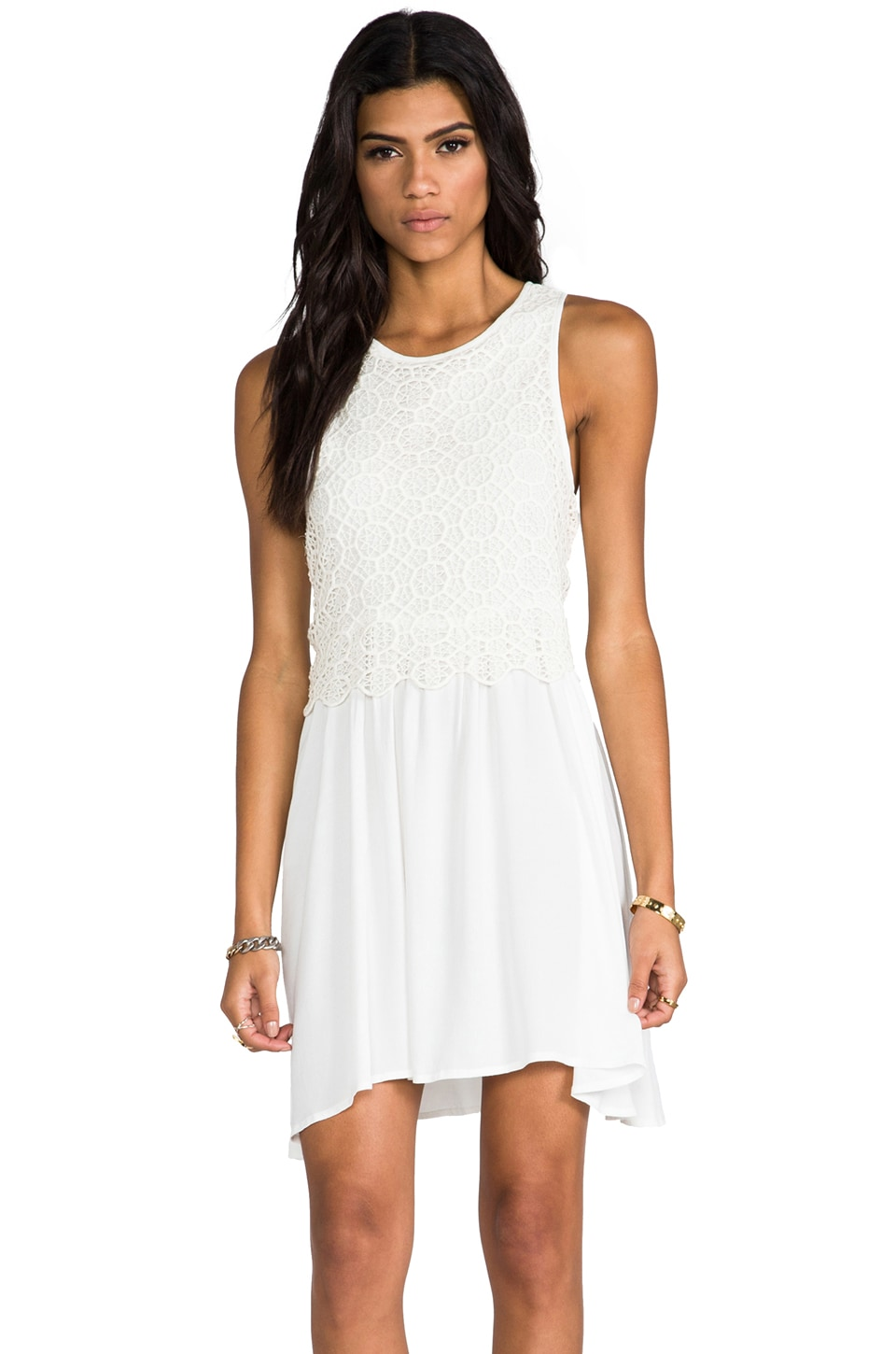 Somedays Lovin The Message Lace Dress in White