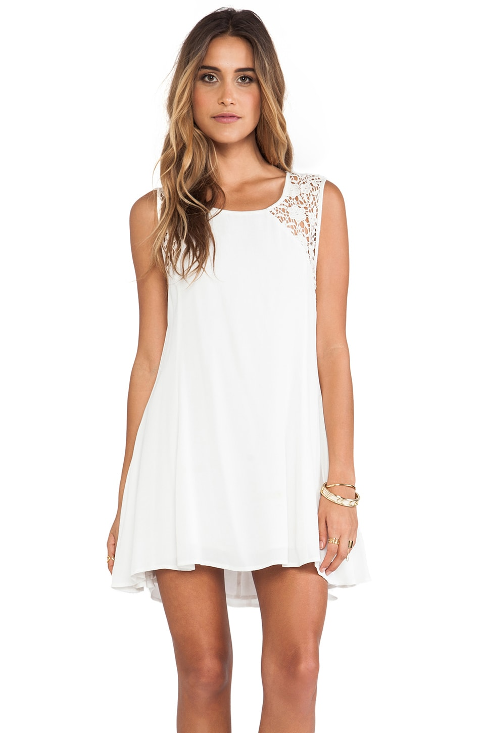 Somedays Lovin The Silence Lace Dress in White