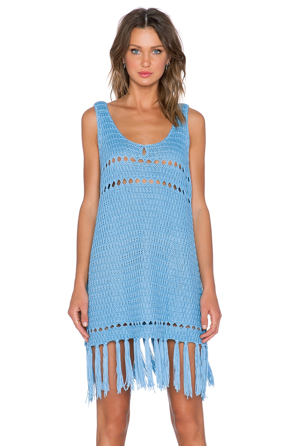 Somedays Lovin Stevie Crochet Dress in Blue