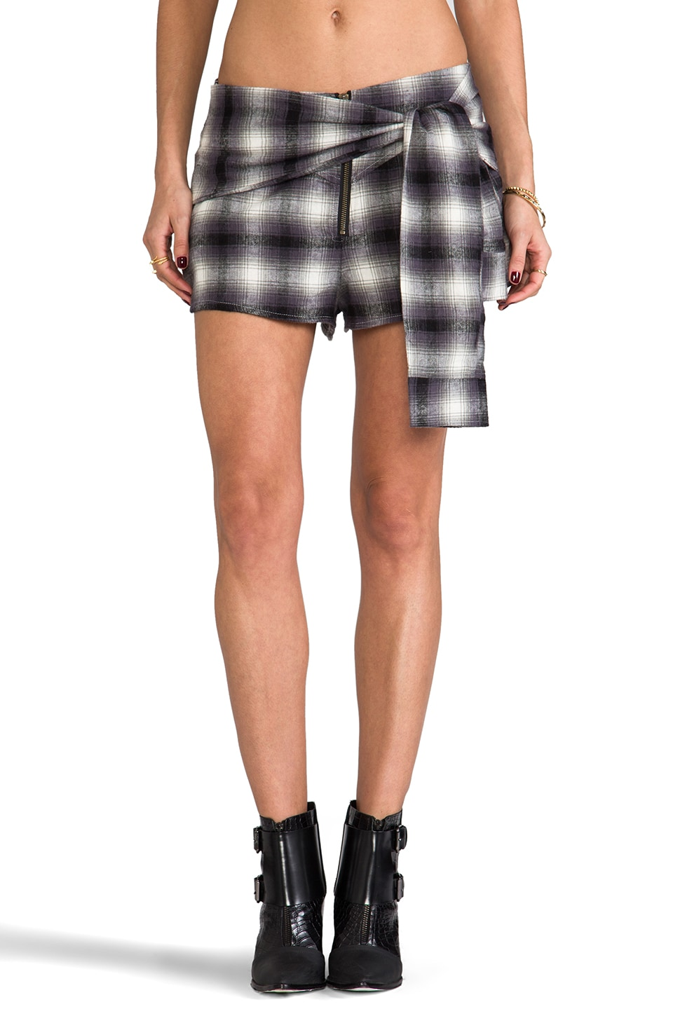 Somedays Lovin North Islands Shirt Tie Short in Multi & Black
