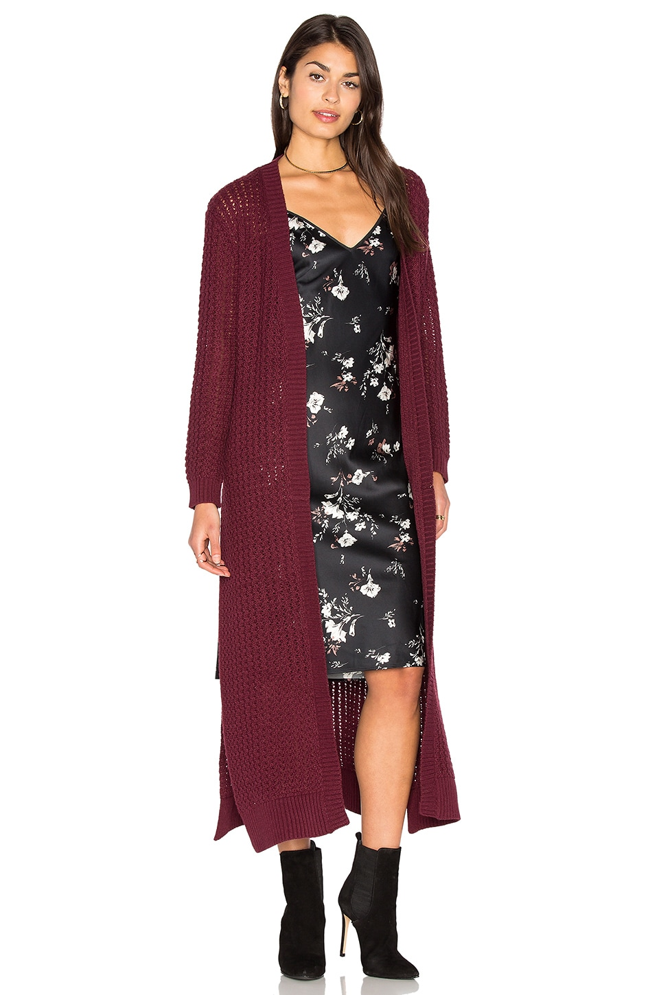 Somedays Lovin Daria Knit Cardigan in Berry