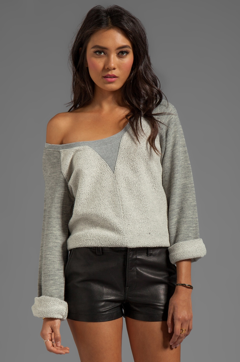 Somedays Lovin Pace Fleece Sweater in Grey