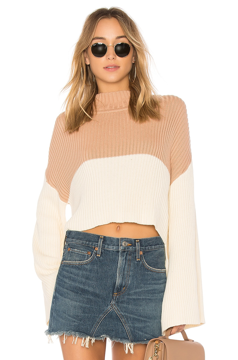 Somedays Lovin Like a Melody Sweater in Cream & Dusty Pink