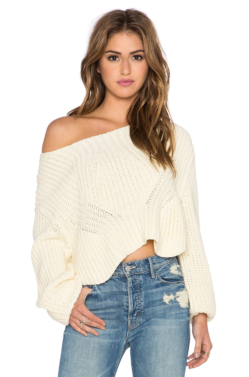 Somedays Lovin Starbo Chunky Sweater in Cream