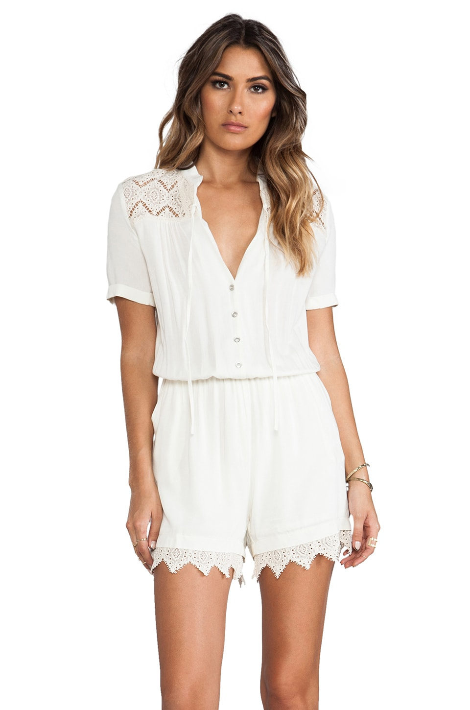 Somedays Lovin Tambourine Lace Jumpsuit in Cream