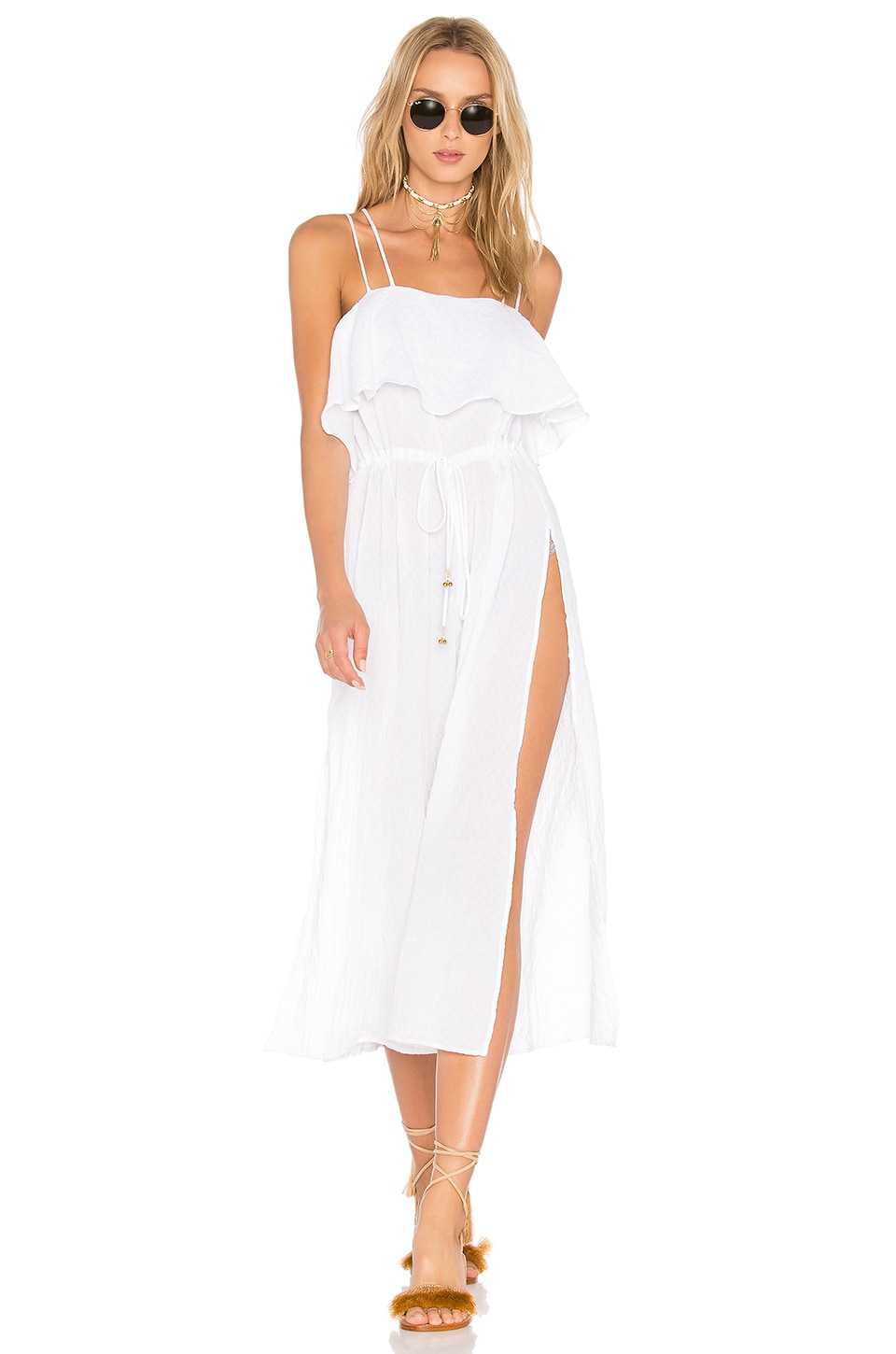Somedays Lovin Drift Ashore Jumpsuit in White