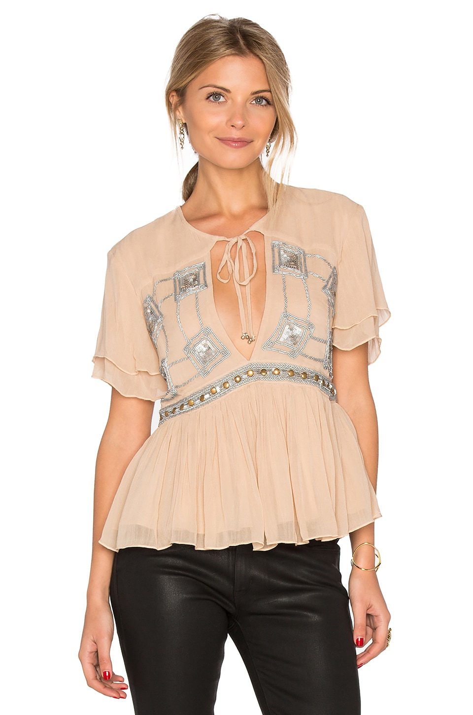 Somedays Lovin Chloe Sequin Top in Stone