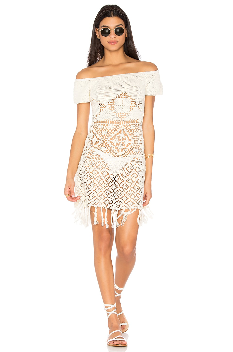Bay Breeze Off Shoulder Crochet Dress