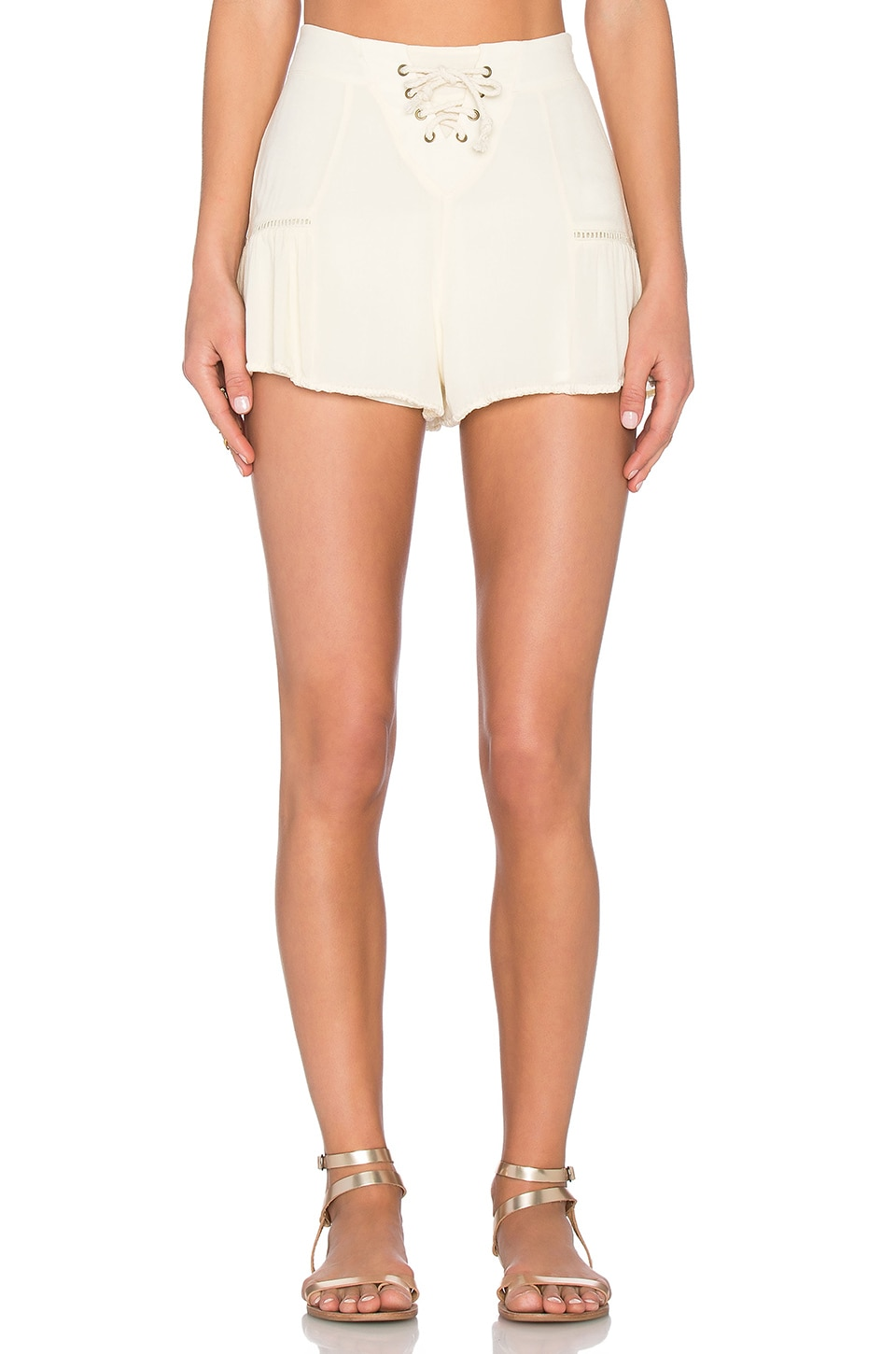 Windswept Lace Up Short by Somedays Lovin