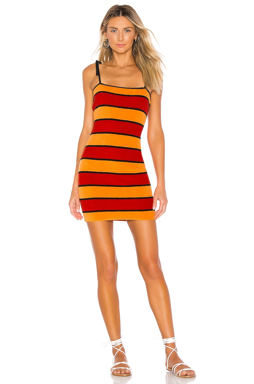 Solid & Striped Shift Dress in Sun Stripe Terry