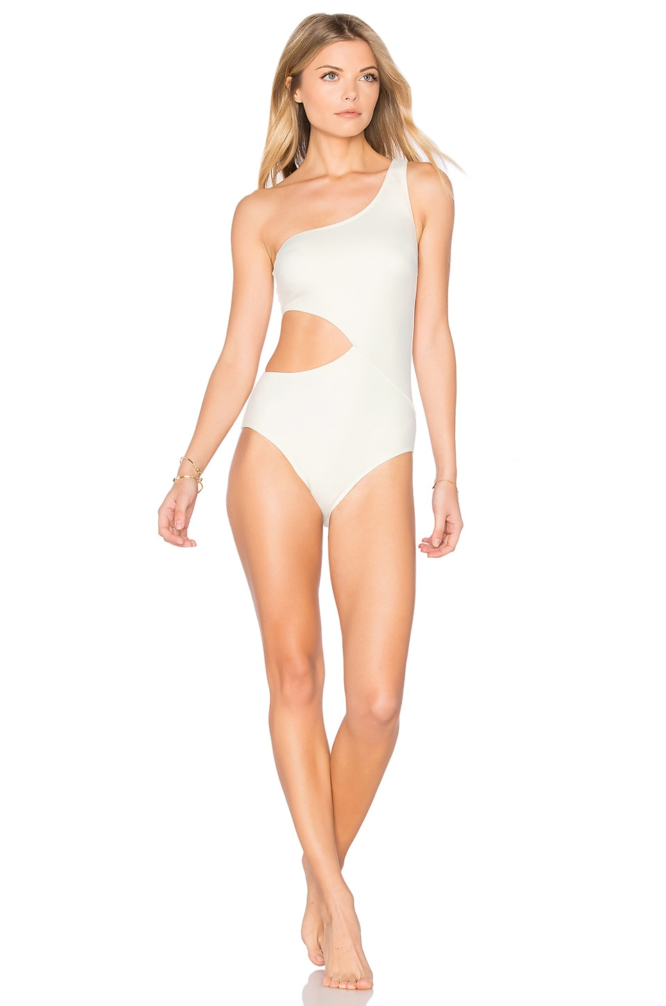 d315c444df8 Solid & Striped The Claudia One Piece in Cream | REVOLVE