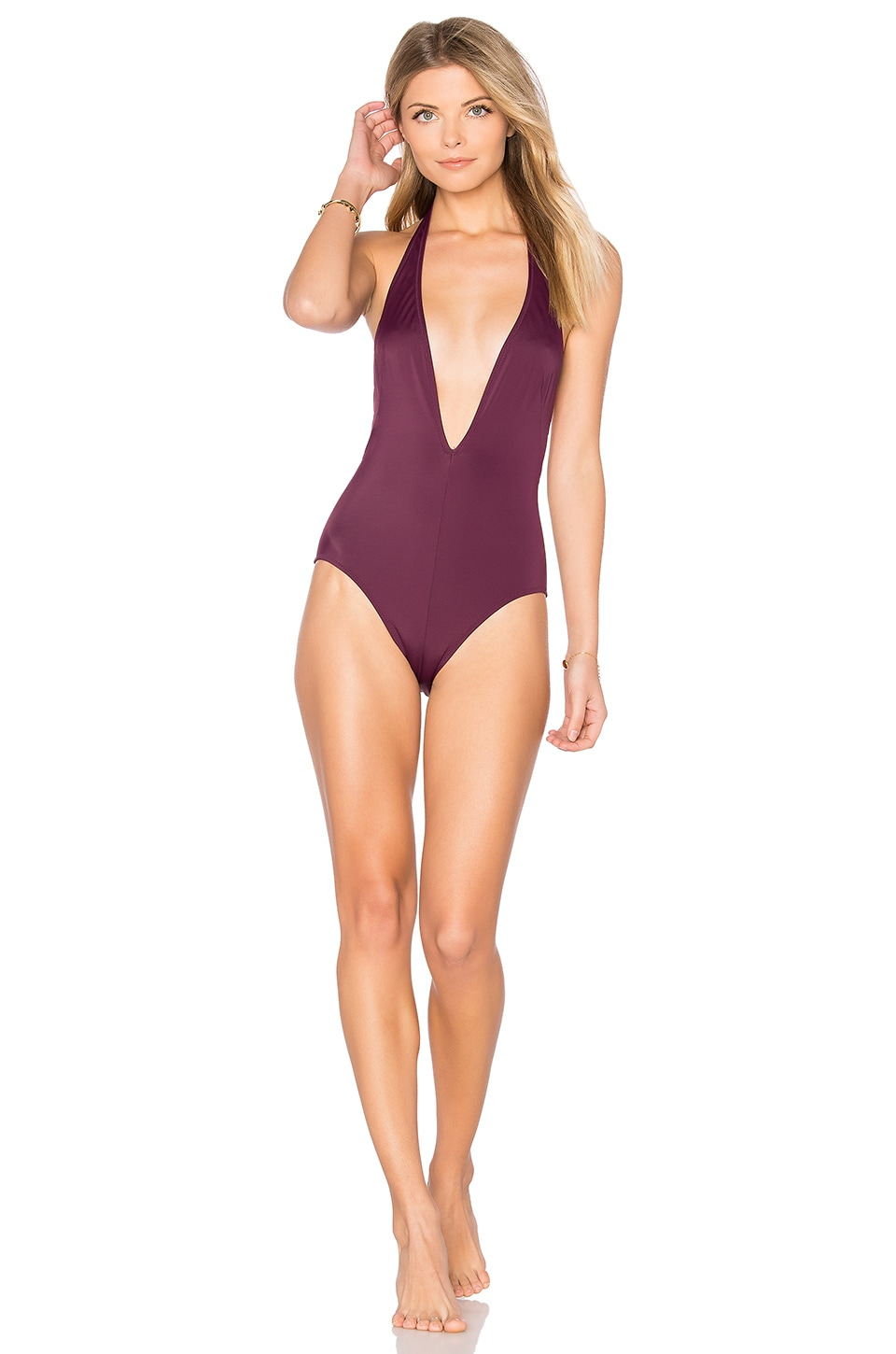 Solid & Striped The Willow One Piece in Bordeaux