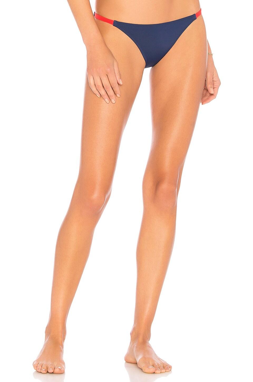 Solid & Striped The Morgan Bikini Bottom in Navy & Red